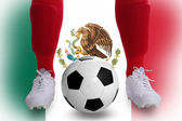 Mexico soccer player — Stock Photo