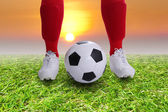 Soccer player Kick off for your goal  — Stock Photo