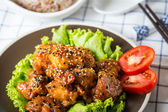 Sesame chicken  — Stock Photo
