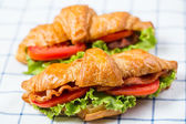 Close up Croissants breakfast food — Stock Photo