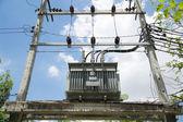 электрические подстанции — Стоковое фото