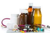Таблетки и наркотиков контейнера — Стоковое фото