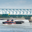 River freight traffic — Stock Photo #12026215