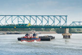River freight traffic — ストック写真