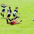 Girls playing soccer — Stock Photo