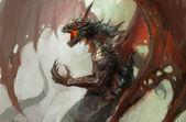 Furia del dragón — Foto de Stock