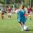 Little Boy playing soccer — Stock Photo #12339298