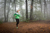 Girl jogging — Stock Photo