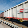 Fast freight train - Stock Photo