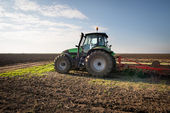 Plowing in Autumn — Stock Photo