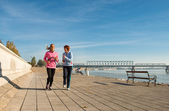 Jogging on coasts — Stock Photo