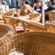 Wicker chairs - Stock Photo