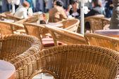 Wicker chairs — Stock Photo