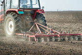 Preparing land for sowing — Stockfoto
