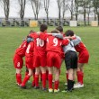 Stock Photo: Team huddle