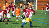 Kids soccer — Stock Photo