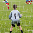 Soccer goalie — Stock Photo