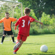 Kids' soccer — Stockfoto
