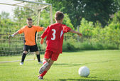 Kids' soccer — Stock Photo