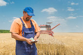 Happy farmer — Stock Photo