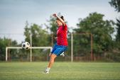 Female soccer — Stock Photo