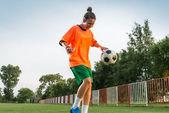 ženský fotbal — Stock fotografie