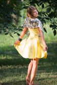 Teenager girl in a dress — Stock Photo
