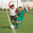Kids football match — Stock Photo