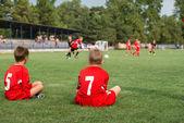 Kids football match — Stock Photo
