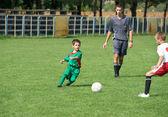 Kid's soccer — Stockfoto