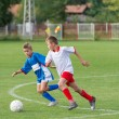 Kid's football — Stock Photo