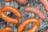 Sausage barbecue — Stock Photo