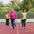 Stock Photo: Girls running