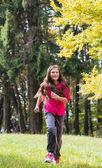 Girls Jogging — Stockfoto