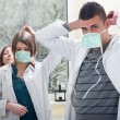 Stock Photo: Prepare medical students