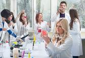 Группа студентов-медиков — Стоковое фото