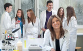 Group of medical students — Stock Photo