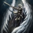 Angel knight — Stock Photo