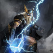 God of lightning thor — Stock Photo