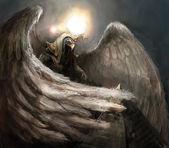 鹰人 — 图库照片