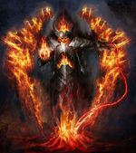 Fire lord — Stock Photo