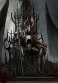 Dark king — Stock Photo