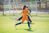 Girls soccer — Stock Photo