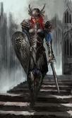 Femail knight — Stock Photo