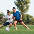 Ladies soccer — Stock Photo