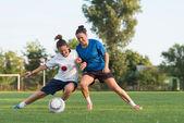Ladies soccer — Stock Photo