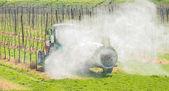 Spraying orchard — Stock Photo