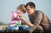 Tatínek a mladá dcera — Stock fotografie