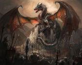Dragon castle — Stock Photo