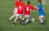 Kids' soccer — Stok fotoğraf